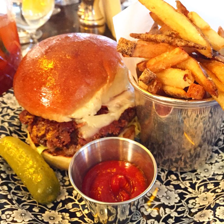 Soho House burger with bone marrow and special sauce.