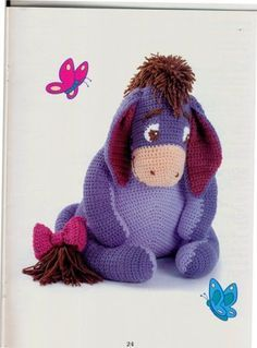 Amigurumi Eeyore - FREE Crochet Pattern / Tutorial in ENGLISH (click on arrows to get to pattern)