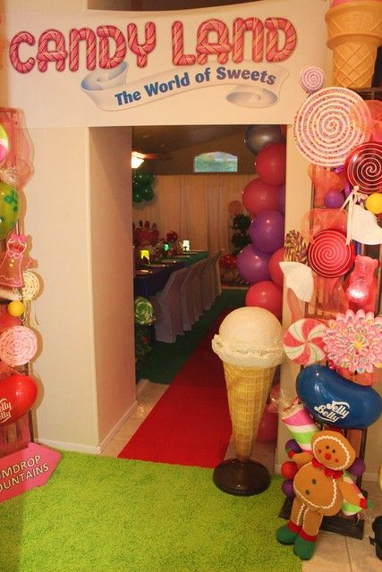 Entrance at a Willy Wonka & Candyland Birthday Party! See more party ideas at CatchMyParty.com! #partyideas #candy