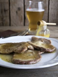 Pork loin with beer and honey