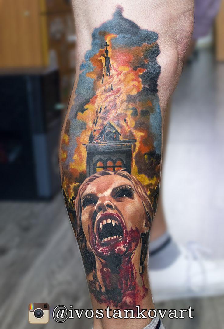 Vampire tattoo; Horror