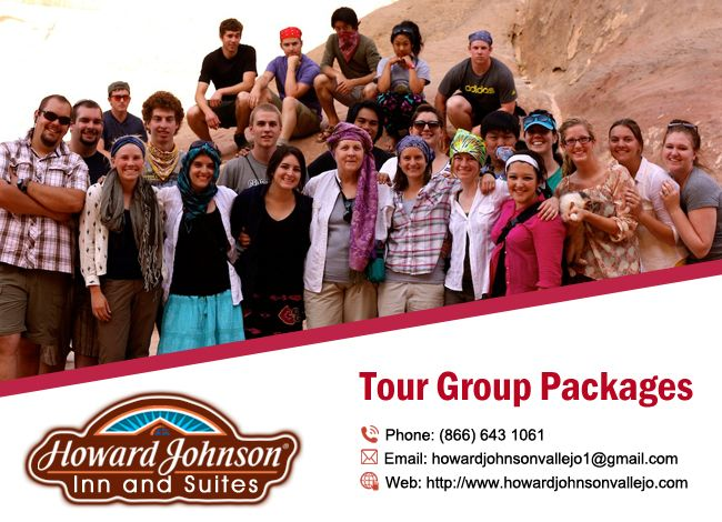 Tour Groups are warmly welcomed! Howard Johnson Inn & Suites Vallejo offers customized packages. http://goo.gl/Mir5Ok Image may contain: 14 people , people smiling , text