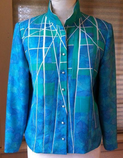 http://annwilliamson.com/handmade-designer-womens-apparel/   wunderschöner Blog mit Patchwork-Kleidung   #AnnWilliamson