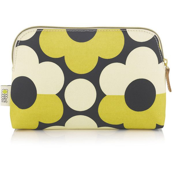 Orla Kiely Sunset Flora Cosmetic Bag found on Polyvore featuring beauty products, beauty accessories, bags & cases, yellow, travel toiletry case, purse makeup bag, toiletry bag, makeup bag case and wash bag