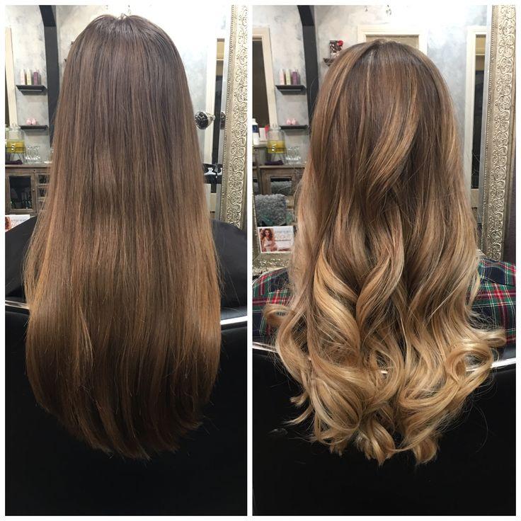 Blonde/brunette balayage