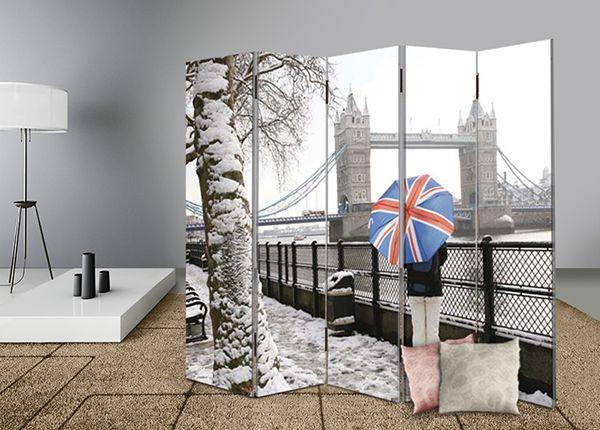 Διακοσμήστε και διαχωρίστε με στυλ το χώρο σας με διακοσμητικά παραβάν #digiwall από την κατηγορία ΠΟΛΕΙΣ : Χιονισμένο Λονδίνο