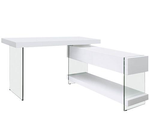 Console Tables Lucca Modern Desk White Lacquer White Desks