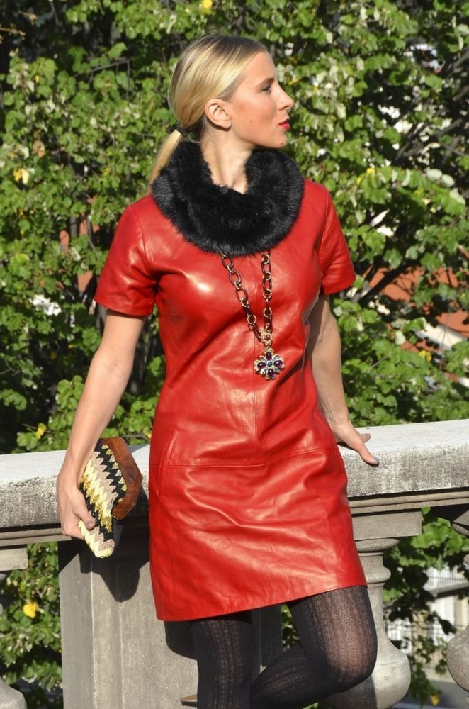005fe9bb888 WOMEN GENUINE LAMBSKIN LEATHER HOT SEXY PARTY DRESSES PLUS SIZE CUSTOM MADE   ZAAROON  DRESS  Casual