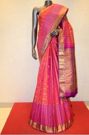 Wedding Kanjeevaram Silk Saree With a Grand Zari Contrast Border Product Code: AB210321 Price: ₹33,000 #Wedding #Kanchipuram #Kanjivaram #Kanjeevaram #Designersarees #Ethnicwear #Exclusivedesign #India # Saree fashion #Sari #Beautiful Saree #wedding #bridalwear #indianwedding #designer #bridal #desi #indianfashion #partywear #ethnic #sarees #onlineshopping Sarees #indianbride #indianwear #Saree love #uk #usa # canada #traditional #gorgeous #bride #elegant