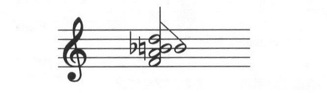 In v full clusters, you can offset the highest of three adjacent notes to the right hand side, as shown #booseyfact