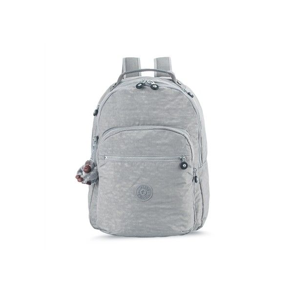Mochila escolar cinza Cool Grey CLAS SEOUL B Kipling ❤ liked on Polyvore featuring home, home decor and kipling