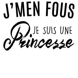 personnaliser tee shirt Je suis une princesse