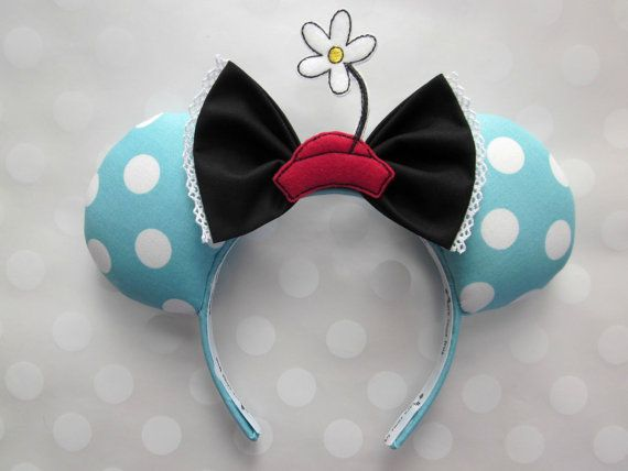 """Vintage"" Minnie Mouse Disney Ears Source Etsy by EarsComeTrue #Vintage #VintageMinnie #Daisy #Retro #ClassicDisney #Disney #Disneyland #DisneyWorld #WDW #Custom #Handmade #DIY #DiyMouseEars #MouseEars #WeGotEars #DisneyEars #DisneyHeadband #MinnieEars #MinnieMouseEars #MinnieMouse #MickeyMouse #MickeyEars #MickeyMouseEars #DisneySide #Disnerd #MagicKingdom #DisneyFan"