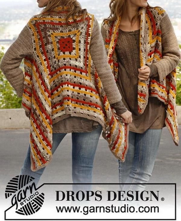 Stylish Easy Crochet: Women's Cardigan - Wonderful Crochet Cardigan  && lots of free crochet patterns