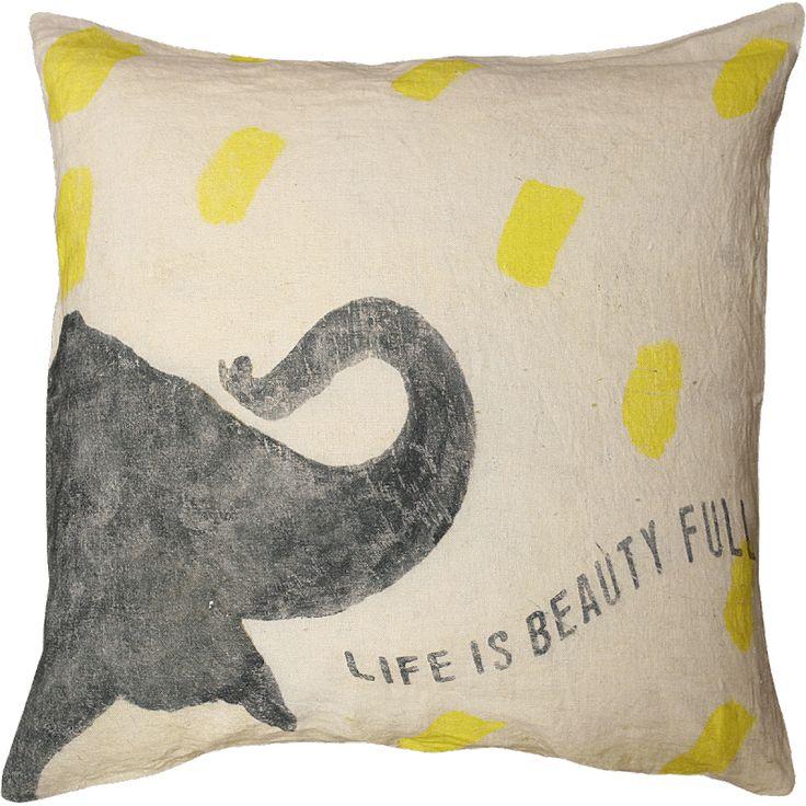 Sugarboo Designs // Smart Elephant Pillow