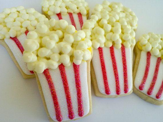 Popcorn Box Sugar Cookies 1 Dozen by acookiejar on Etsy, $33.95
