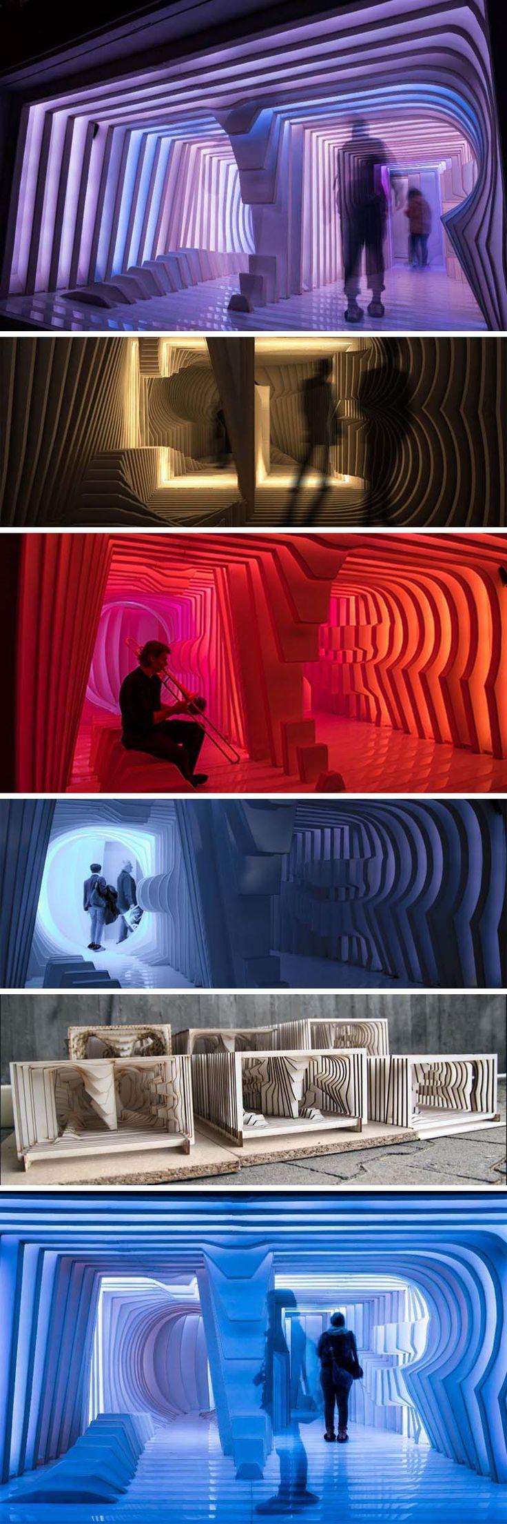 Cornea Ti, Luminale 2014, FH Mainz, Light, sound and type installation