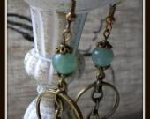 anneaux et aventurine verte