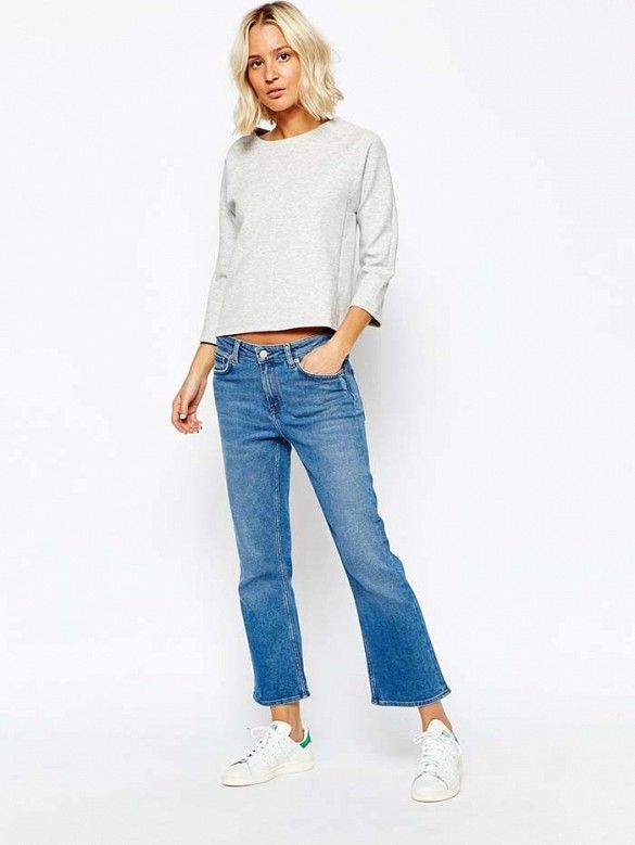 22 best images about female cropped flare jeans on pinterest alexa chung new york fashion and. Black Bedroom Furniture Sets. Home Design Ideas