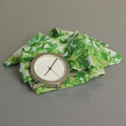 Bez Kordonlu T-Box Saat Yeşil Karışık