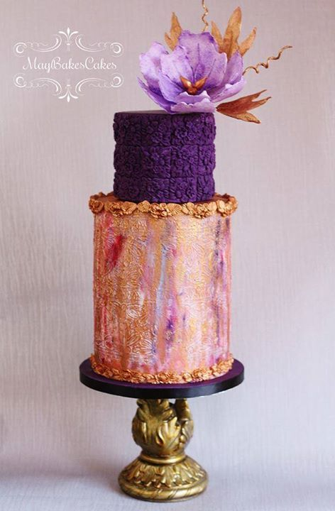 Beautiful and unusual cake. Perfect for a destination wedding. Let's talk about your plans. Call me at 770.469.7370
