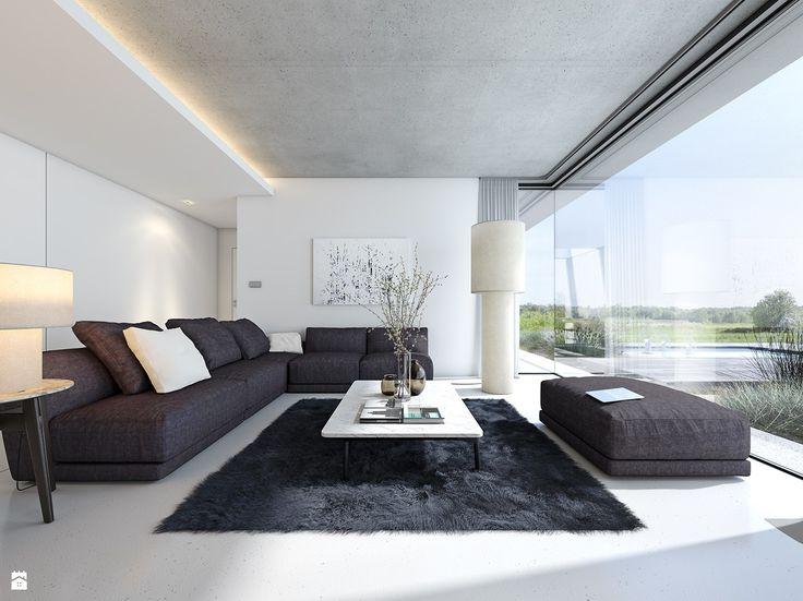 Parterowy 3 - Domy z Wizją - zdjęcie od DOMY Z WIZJĄ - nowoczesne projekty domów - Salon - Styl Minimalistyczny - DOMY Z WIZJĄ - nowoczesne projekty domów