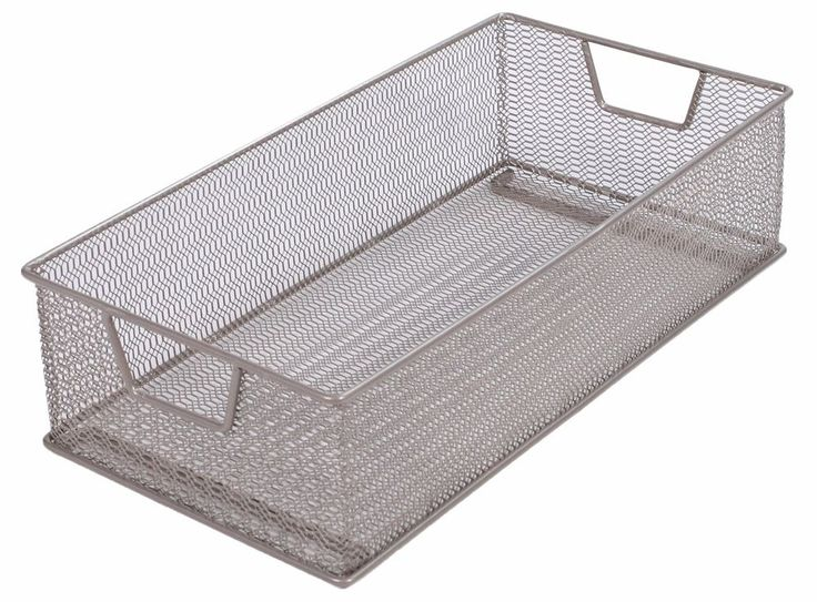 Tidy Living - Stackable Basket Organizer - Mesh Kitchen Bathroom Bin Tray #TidyLiving