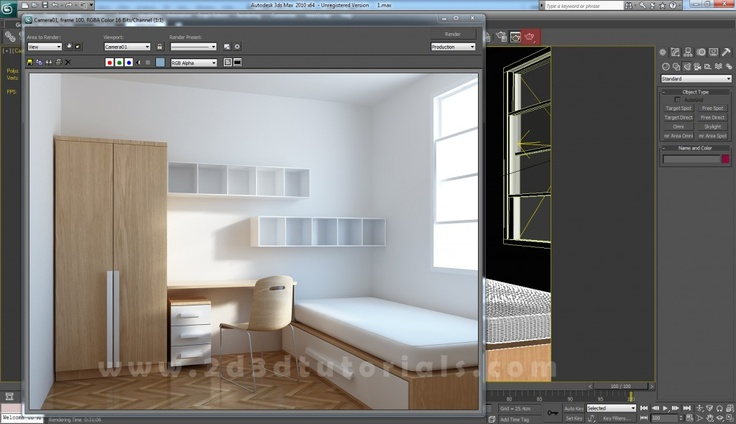 How to create a Kids Room with 3ds Max | 2D 3D Tutorials