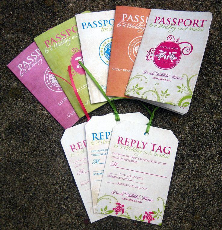 Destination Wedding Invitation Passport Invitation by SZYDesigns