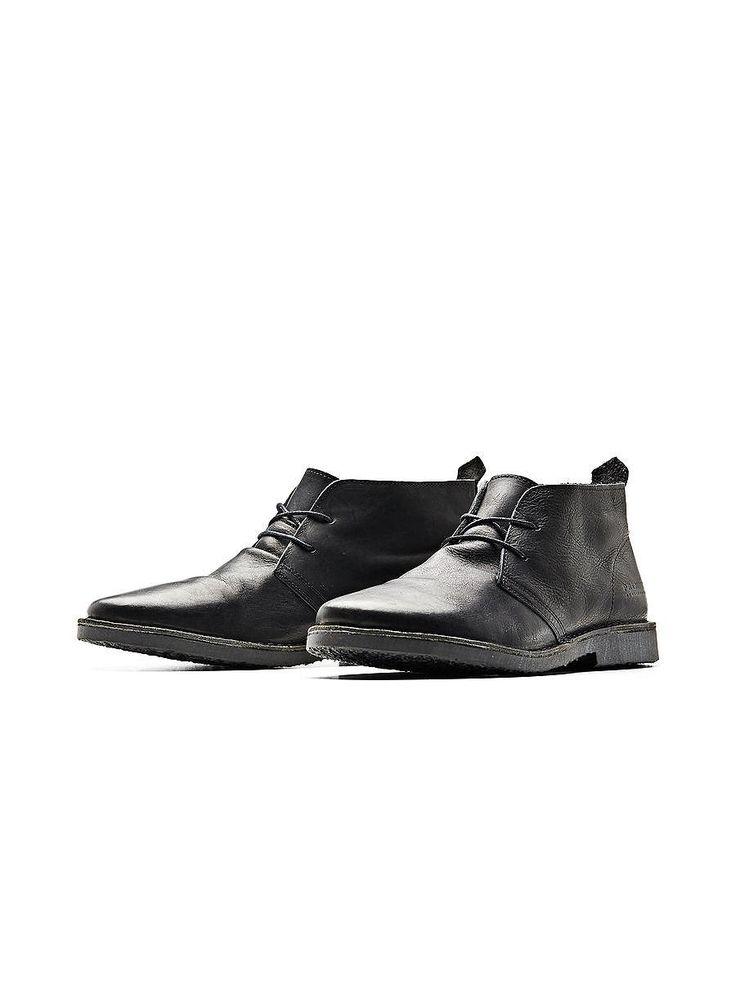 JACK & JONES FOOTWEAR - Klassische Desert-Boots von PREMIUM - 100% Rindleder - Gummisohle - Runde Schnürsenkel - Absatzzuglasche Obermaterial: 100% Rindleder, Sohle: 100% Gummi...