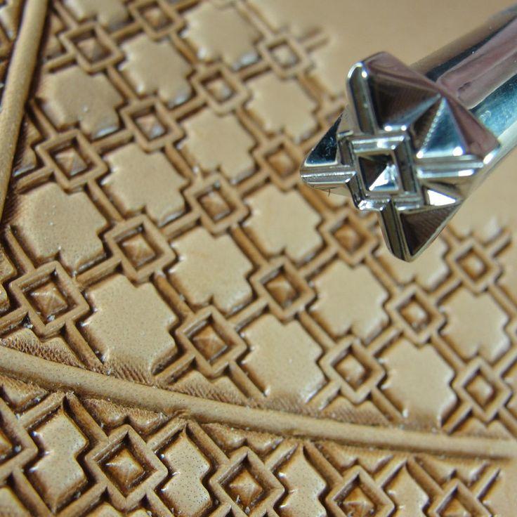 Нержавеющая сталь Барри Кинг - # 3 Crosshair площади Геометрическая Печать (кожа тиснения Инструмент)