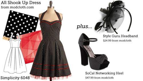 cute: Sewing Amp, Polka Dots Dresses, Sewing Week, Vintage Lifestyle, Sewing Inspiration, Shook, Dresses Patterns, Modcloth Dresses, Sewing Patterns