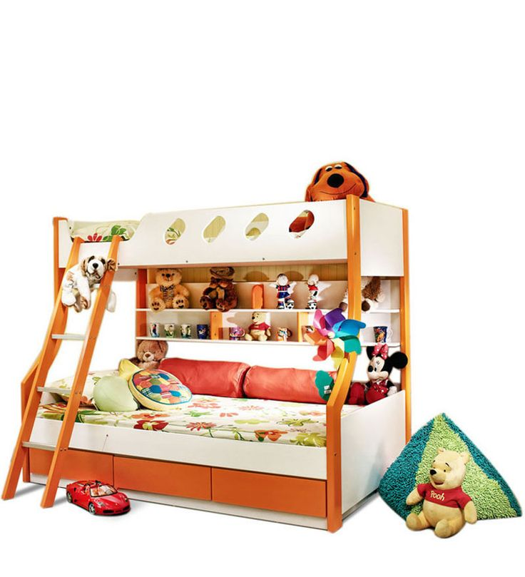 Deccan bunk bed for kids - A beautiful orange colored bed by HomeTown