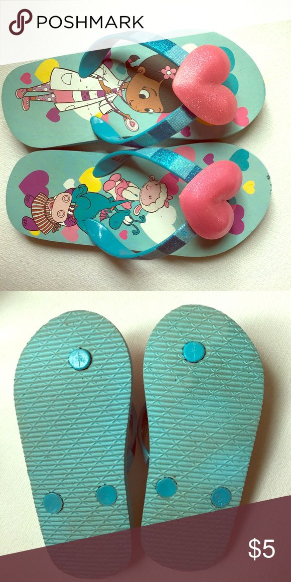 Disney Doc McStuffins Flips Size 9/10 as you can see on the bottom.  Worn a few times. Disney Shoes Sandals & Flip Flops