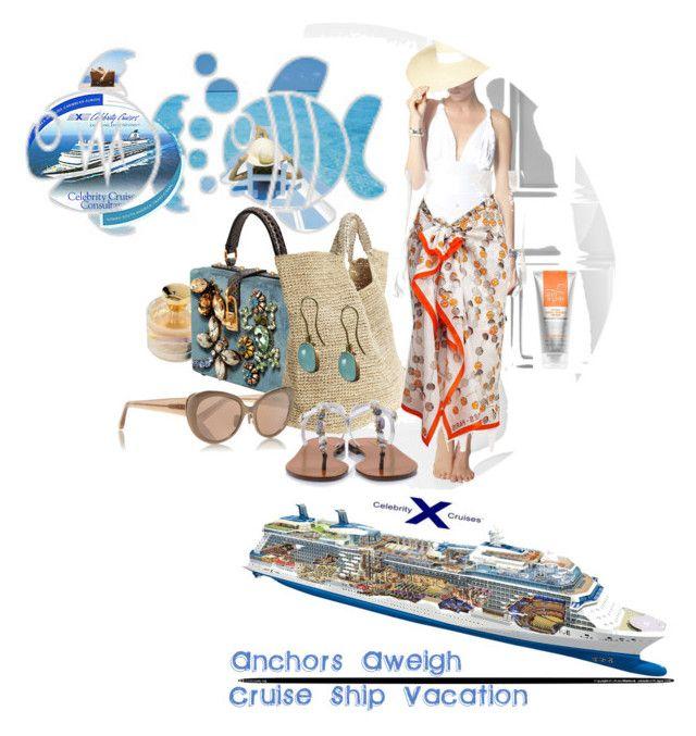 Celebrity Cruises, 72 x New York - Bermuda by betiboop8 on Polyvore featuring Norma Kamali, Dolce&Gabbana, Flora Bella, Linda Farrow and Ralph Lauren