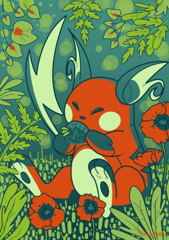 Shiny Raichu Art Print