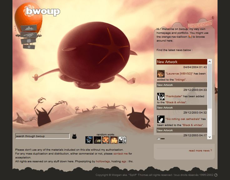 Bwoup Website in  2004