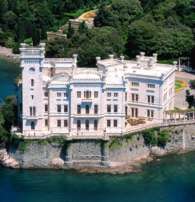 Miramare Castle, near Trieste // built from 1856 to 1860 for Austrian Archduke Ferdinand Maximilian and his wife, Charlotte of Belgium // - Italy
