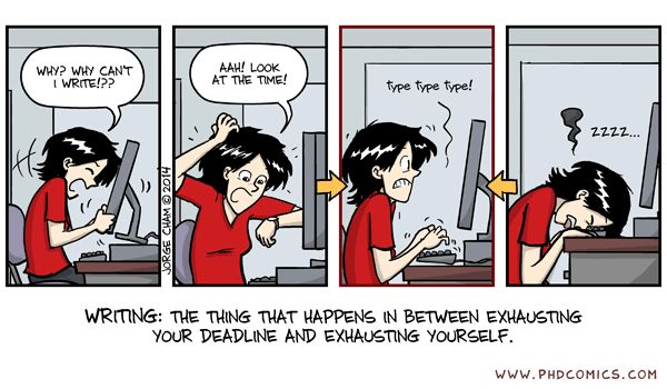Phd comics caution thesis writing