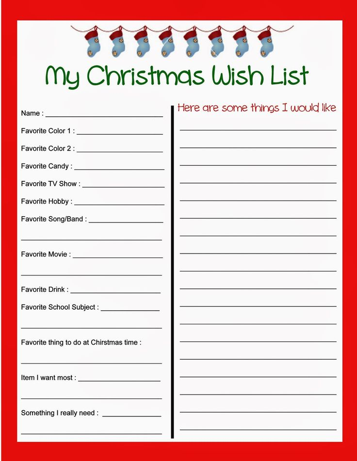 Best 25+ Christmas list printable ideas on Pinterest Christmas - Kids Christmas List Template
