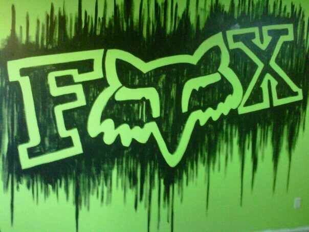 Fox Racing Logo 12X12 Ft. Mural