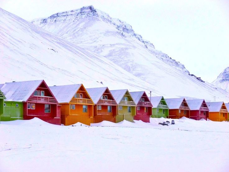 Longyearbyen, Norway | 17 Impossibly Colorful Cities You'll Want To Visit Immediately Lets go.