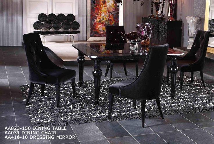 manor armani xavira square high gloss table | high gloss, squares