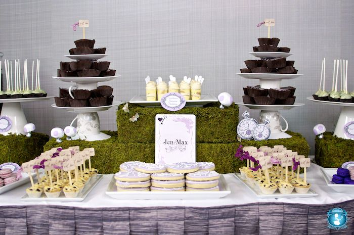 DIY dessert stands using tea cups and plates