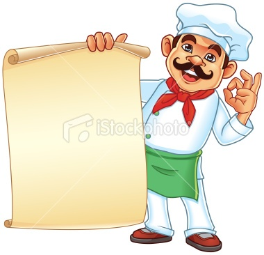 http://www.istockphoto.com/stock-illustration-23783145-chef-holding-parchment-menu.php