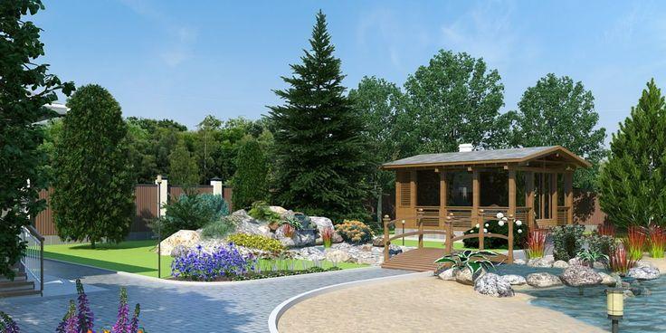Фото Ландшафтный дизайн участка - ландшафтный дизайн, Современный стиль, Территория частного владения, Дачный участок, 0.2 - 0.5 га