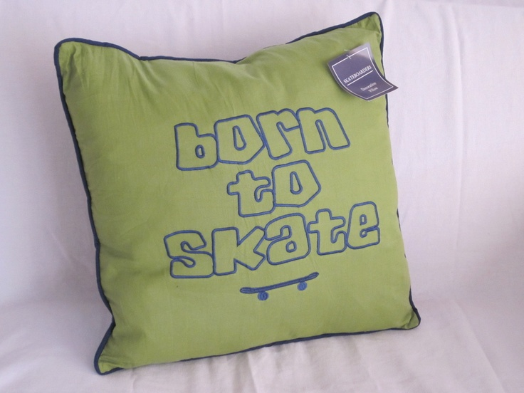 Decorative Bed Pillow Storage : SKATEBOARD