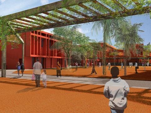 Adam Yedid architecte & Terreneuve  Delphine Jaoul/concours  Lycée Français /Dakar Sénégal