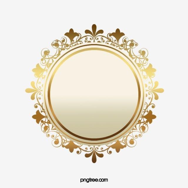 Golden Atmosphere Badge Golden Badge Atmospheric Sign Medal Pattern Png Transparent Clipart Image And Psd File For Free Download Doodle Frames Flower Background Wallpaper Badge