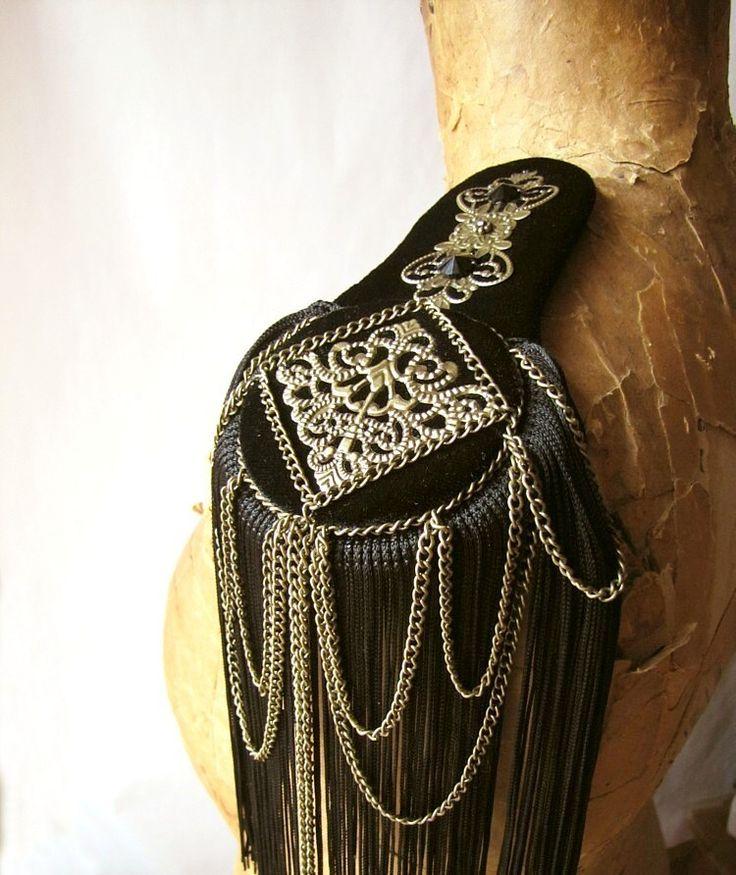 Black Bird Epaulettes Reserved for wandaandkrystyna